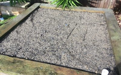 """""""Retro fit"""" garden bed with WaterUps® wicking cells"""