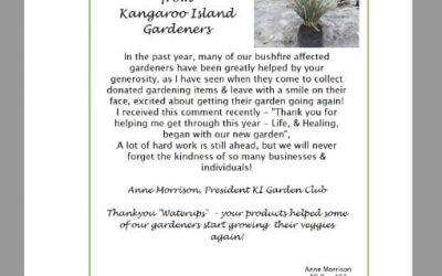 WaterUps® on Kangaroo Island
